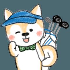 豆柴ゴルファー日常用 挨拶&ラウンドお誘い