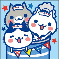 [LINEスタンプ] ねこの缶詰め【夏】