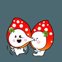 Strawberry emoticons .2/イチゴ2(no text)