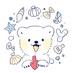 [LINEスタンプ] 南北極地動物園〜貝殻とサンゴ〜