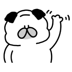 [LINEスタンプ] ( ˙˙)むちパグ 割と日常で使いやすい