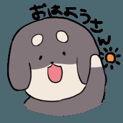[LINEスタンプ] 関西弁ダックスわんこ