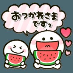 夏のちびマロシール♡